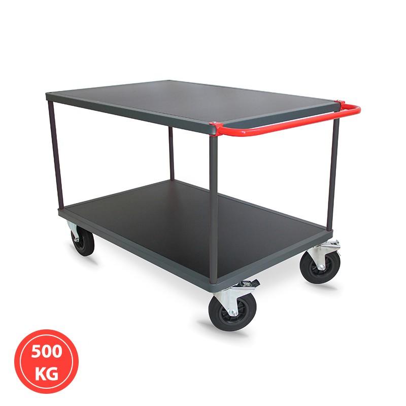 Servante 2 plateaux bois - 300 et 500 kg