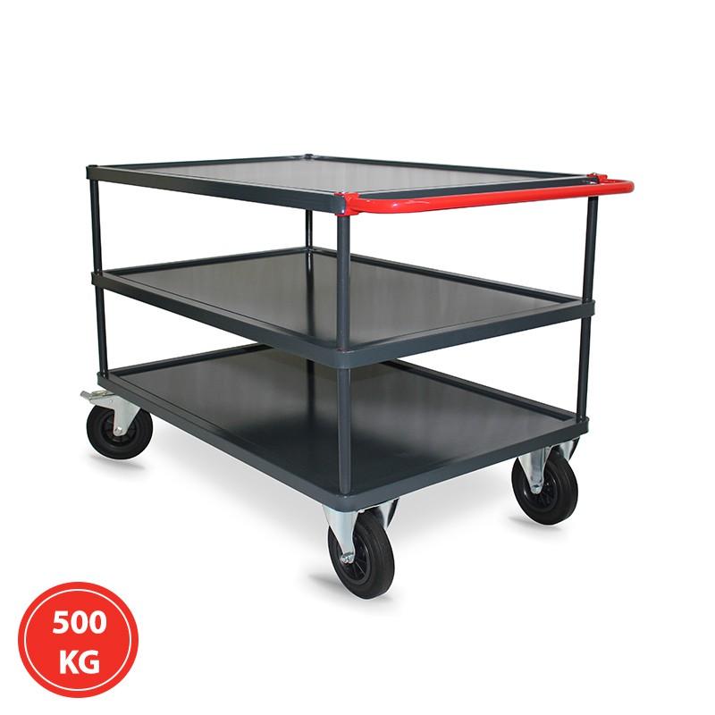 Servante 3 plateaux tôlés - 300 et 500 kg