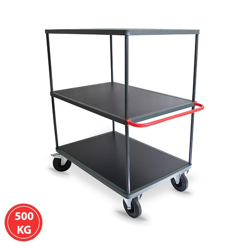 Servante 3 plateaux hauts - 300 et 500 kg