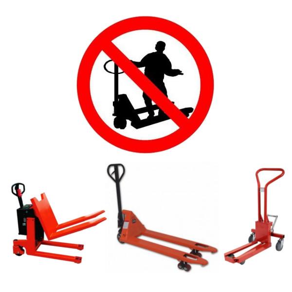 Respectez bien les règles de sécurité d'utilisation des transpalettes