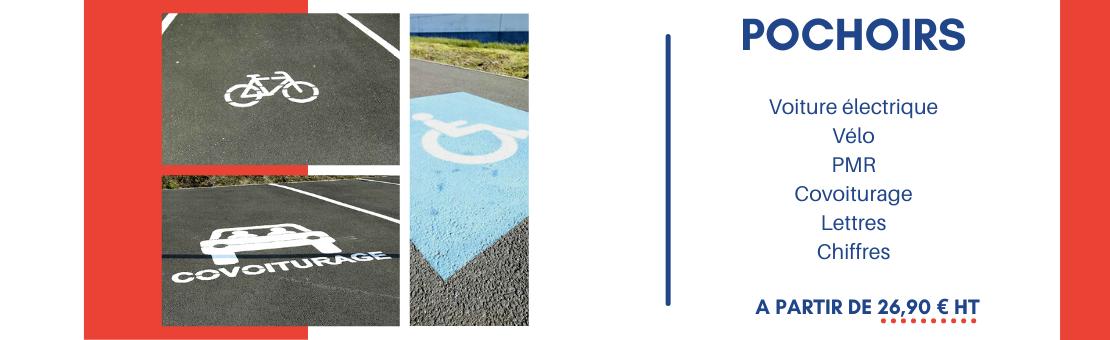 Orientez vos usagers, avec les pochoirs pour place de parking !